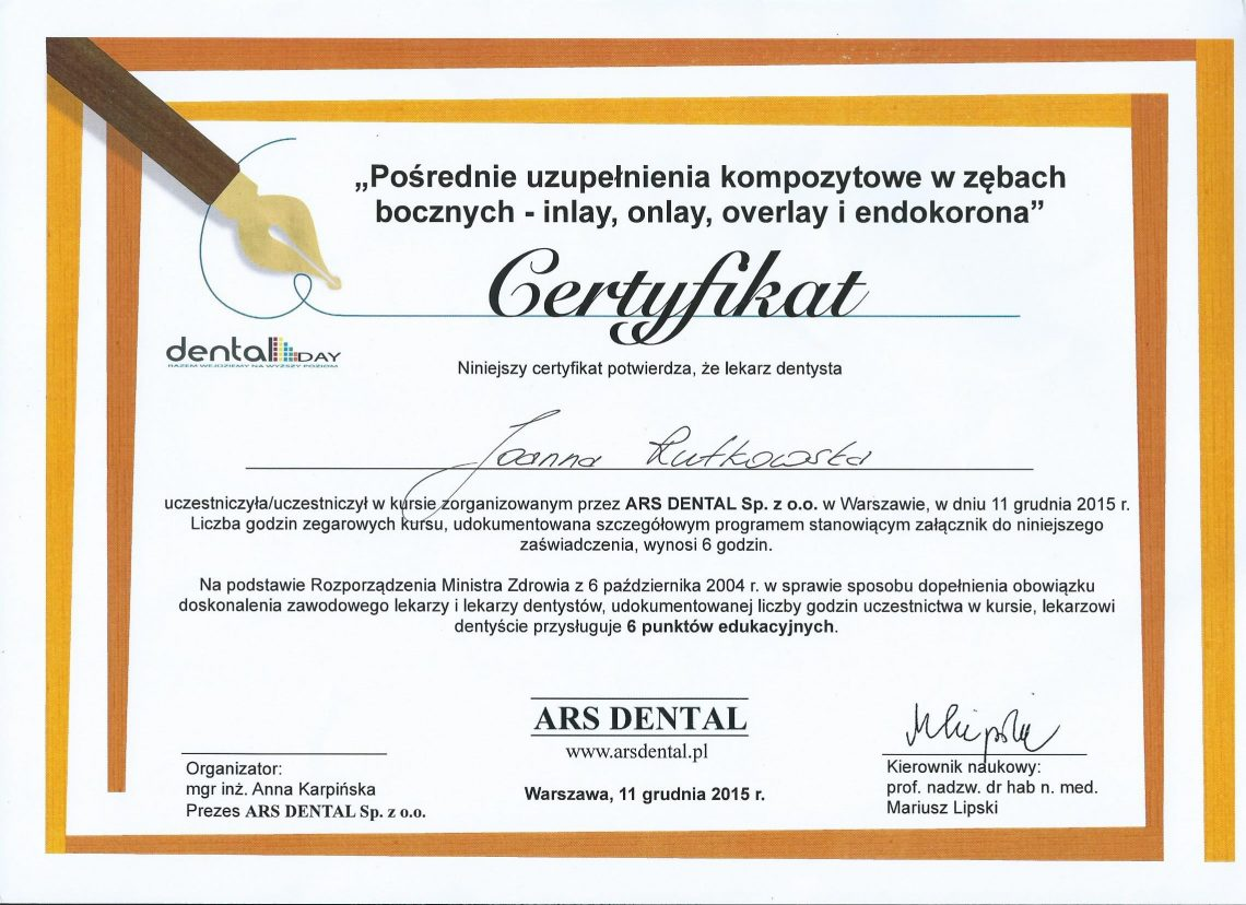 certyf dr Rutkowska